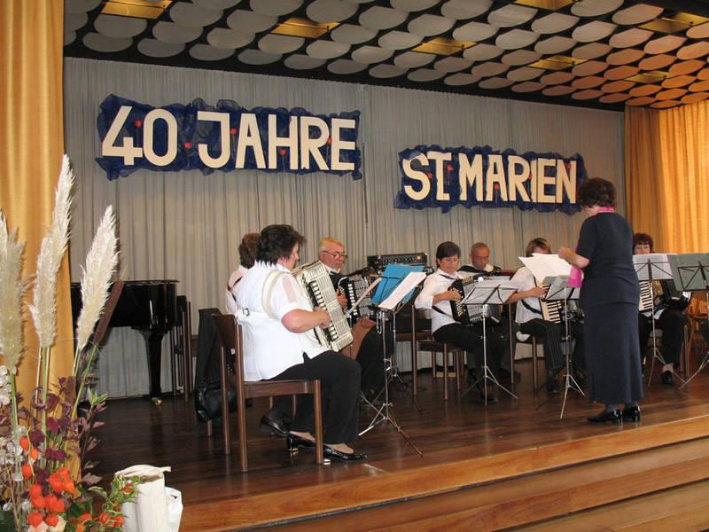 MFO beim Jubiläum, 40. Jahre St. Marien